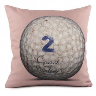 Coussin Golf Ball 2 Rose 40 x 40