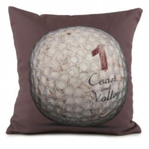 Coussin Golf Ball 1 Marron 40 x 40