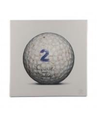 Tableau Golf Ball Blanc 2 40 x 40