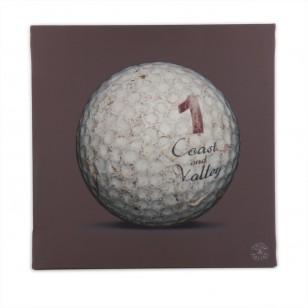 Tableau Golf Ball Marron 1 40 x 40