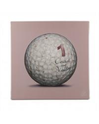 Tableau Golf Ball Rose 1 40 x 40