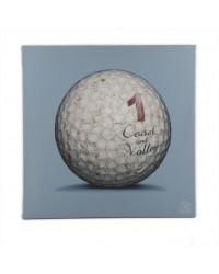 Tableau Golf Ball Bleu 1 40 x 40