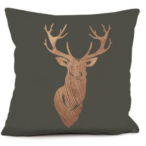 Coussin Cerf Bois 40 x 40   Coast And Valley