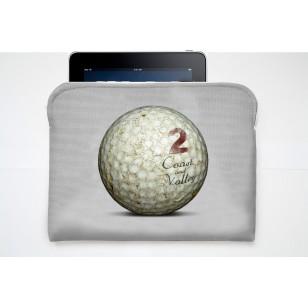 Pochette Tablette Golf Ball Gris