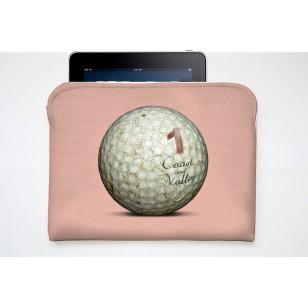 Pochette Tablette Golf Ball Rose